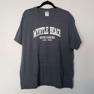 Myrtle Beach Gray XL basic Tee Graphic